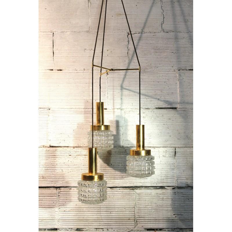 lustre suspension 3 globes ann es 50. Black Bedroom Furniture Sets. Home Design Ideas