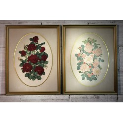 Cadres Roses J.A Lowe années 60