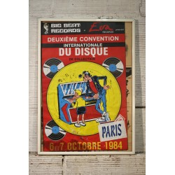 Affiche Convention disque par Margerin 1984