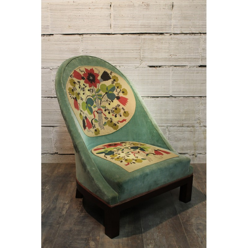 fauteuil chauffeuse ann es 30. Black Bedroom Furniture Sets. Home Design Ideas