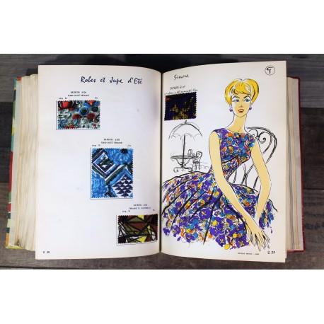 Catalogue échantillons tissus Garrigou années 50