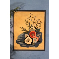 """Canevas """"Bouquet"""" années 60"""