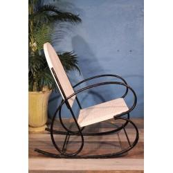 Rocking chair métal perforé années 50