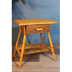 Table de chevet bambou années 60