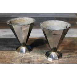Vases métal années 30