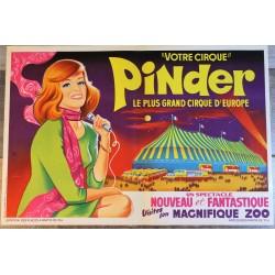 Affiche cirque Pinder années 60
