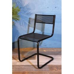 Chaise métal perforé années 60