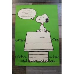 "Affiche ""Snoopy"" années 70"