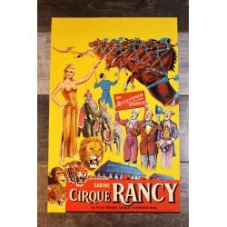 Affiche cirque Rancy années 70