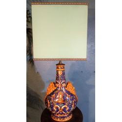Lampe céramique Gien XIXème siècle