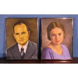 """Gouaches """"Mr & Mme"""" Hauser années 50"""