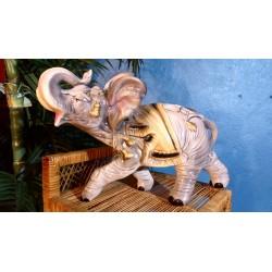 """Statuette céramique """"Eléphant"""" années 60"""