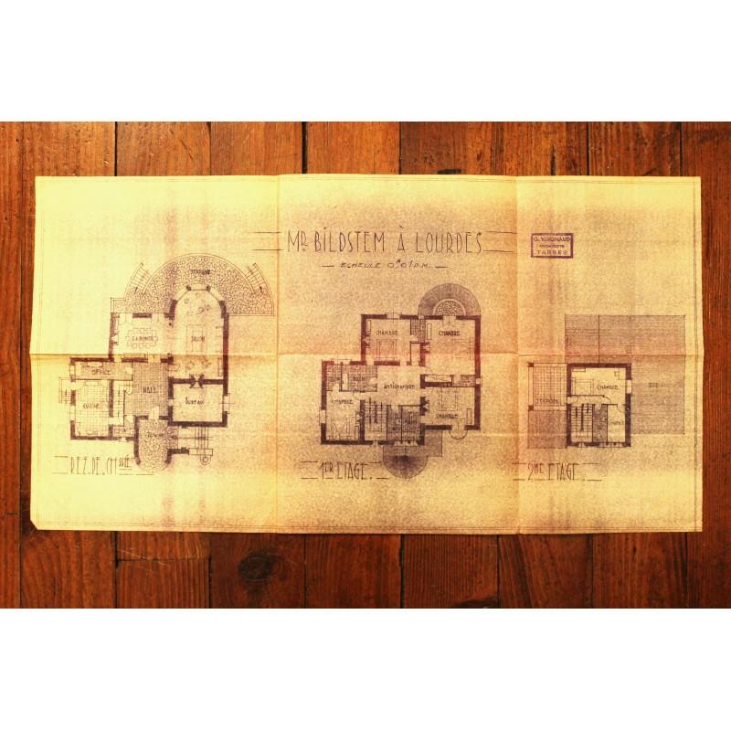 plan int rieur maison ann es 50. Black Bedroom Furniture Sets. Home Design Ideas