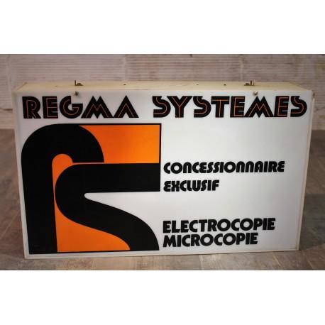 Enseigne magasin Regma Systèmes années 80