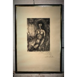 """Cadre """"Le nu au fauteuil"""" Goerg années 30"""