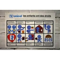 Affiche Unicef années 80