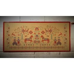 Cadre crochet Slave années 60