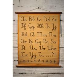 """Affiche pédagogique """"Alphabet"""" années 60"""
