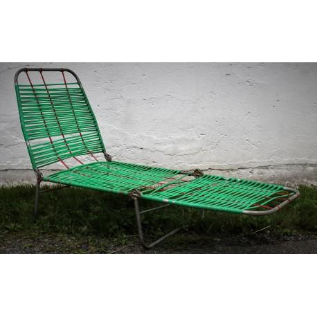 Chaise longue scoubidou années 50