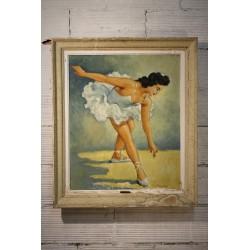 """Cadre """"La danseuse """" années 50"""