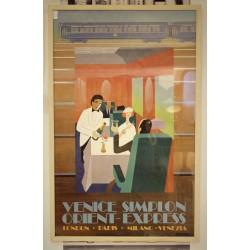 Cadre affiche Orient Express années 70