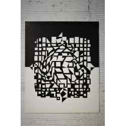 """Lithographie Vasarely """"CITRA"""" années 70"""