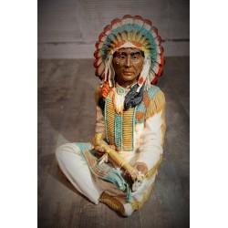 Statuette Indien années 80
