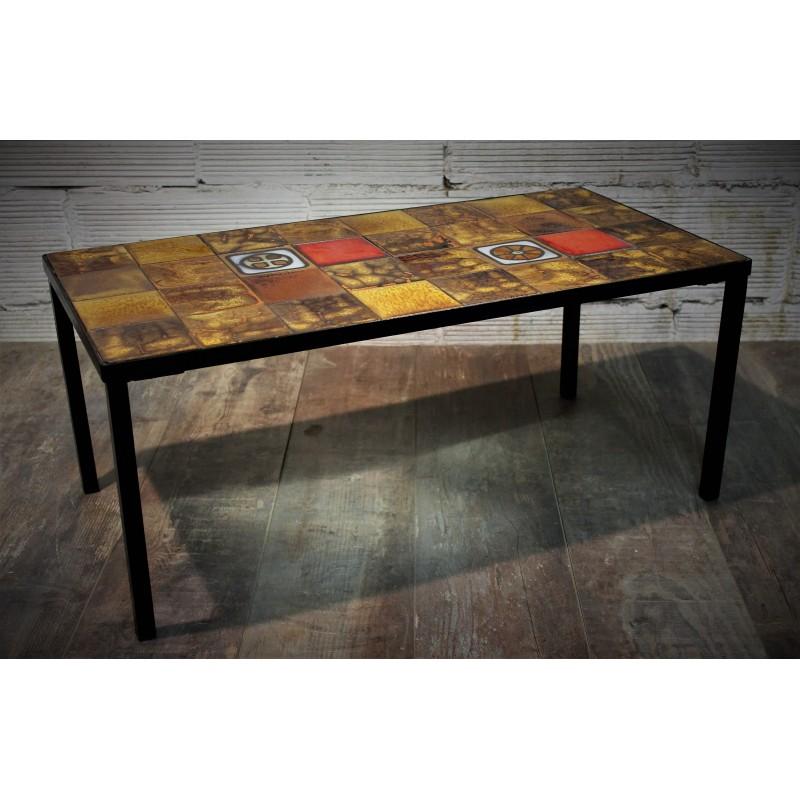 table basse c ramique ann es 60. Black Bedroom Furniture Sets. Home Design Ideas