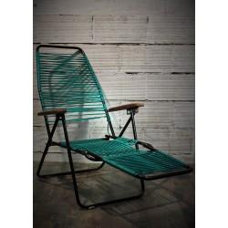 Chaise longue scoubidou années 60