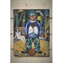 """Pastel """"Clown"""" G.Cheber années 80"""