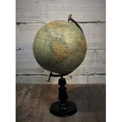 Globe terrestre Girard Barrère XIXème siècle