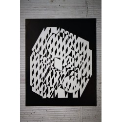 "Lithographie Vasarely ""NETHE"" années 70"