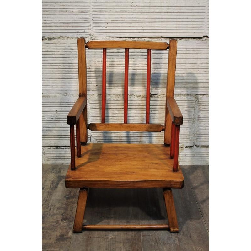chaise basse enfant ann es 60. Black Bedroom Furniture Sets. Home Design Ideas