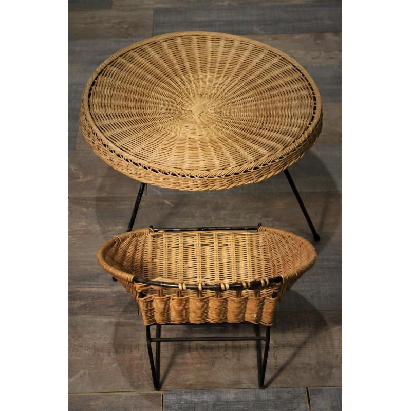 table basse fauteuil ann es 50. Black Bedroom Furniture Sets. Home Design Ideas