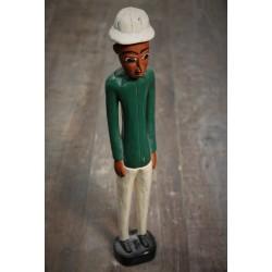 """Statuette Africaine """"Colon"""" années 60"""