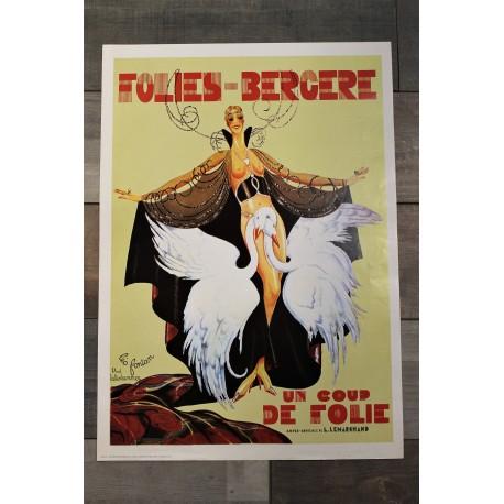 """Affiche """"Folies Bergère"""" années 70"""