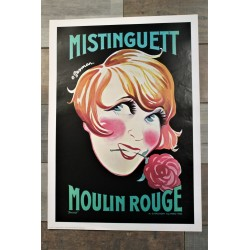 """Affiche """"Mistinguett"""" années 70"""