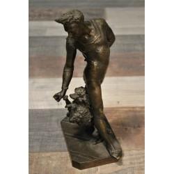 Statuette bronze De Chemellier XIXème siècle