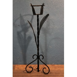 Porte plante métal perforé années 50