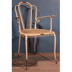 """Chaise de jardin """"Volutes"""" années 50"""
