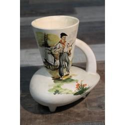 Vase céramique Basque années 50