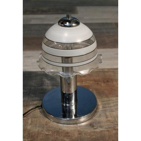 Lampe métal & verre années 60