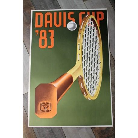 "Affiche ""Coupe Davis"" 1983"