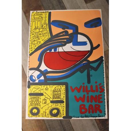 "Affiche ""Willi's Wine Bar"" 1985"