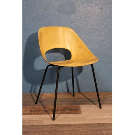 """Chaise """"Tulipe"""" Guariche années 50"""