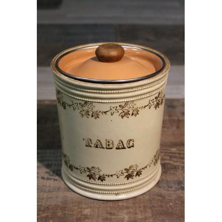 Pot à tabac céramique fin XIXème siècle