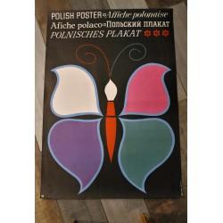 """Affiche """"Papillon"""" Hilscher années 70"""