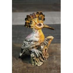 """Statuette céramique """"Oiseau Huppé"""" années 60"""