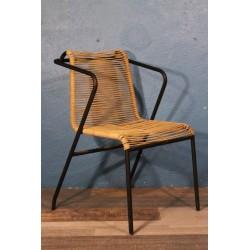 Chaise métal & corde années 60