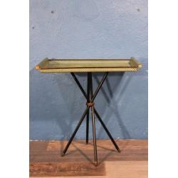 Bout de canapé métal perforé années 50